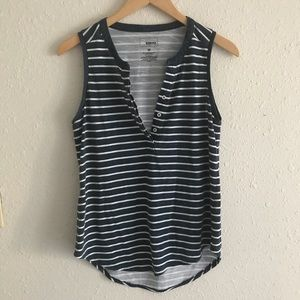 Blue and White Striped Tank Top (Medium$